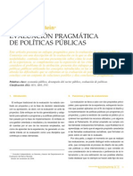 """Feinstein Osvaldo """"Evaluación Pragmática de Politicas  Públicas"""""""