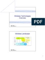 1. Wireless Technologies Overview