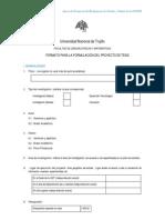 FORMATO PARA LA FORMULACIÓN DEL PROYECTO DE TESIS