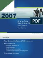 Shedlarz Presentation 012207