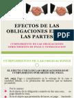 Efectos de Las Obligaciones Entre Las Partes