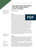 Political Segmentation in British 2005 Elections