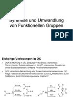 Synthese Und Um Wand Lung Von Funk Ti on Ellen Gruppen Skript SS 2009