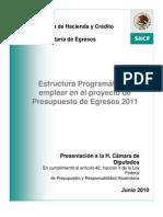 ESTRUCTURA PROGRAMATICA 2011