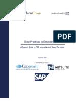 Best Practices in Extending ERP
