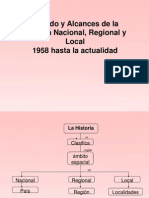 Historia Nacional, Regional y Local