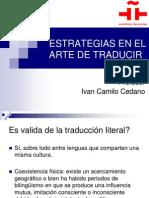 Estrategias en El Arte de Traducir