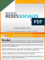 Reporte del CEIEG en Redes Sociales, agosto 2011