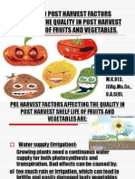 Pre and Post Harvest Factors Affecting the Quality