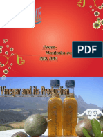 vinegar and its production a ppt