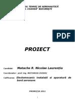 PROIECT -  Mentenanța SISTEMULUI  DE ILUMINAT EXTERIOR  al avionului DA20-C1