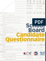 School Board Candidate Questionaire
