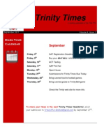 Trinity Newsletter September