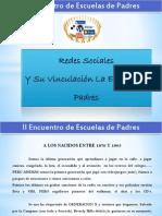 Redes Sociales presentación escuela para padres
