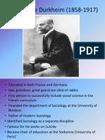 Emile Durkheim 2