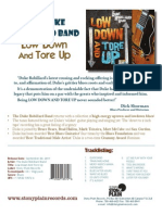 "Release Sheet for the Duke Robillard Band's ""Low Down And Tore Up"""