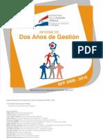 Informe de dos años de Gestión SFP 2008 2010 - SECRETARIA DE LA FUNCION PUBLICA - PRESIDENCIA DE LA REPUBLICA DEL PARAGUAY - PortalGuarani