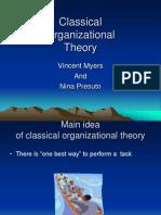 Organisational Theories