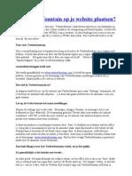 Hoe Twitter Fountain Op Je Website Plaatsen