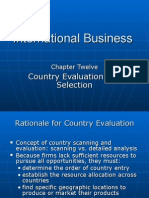 Ch12 Country Evaluation and Selection