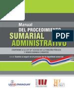Manual de Procedimiento Sumarial Administrativo - Secretaria de La Funcion Publica - Presidencia de La Republica Del Paraguay - PortalGuarani