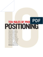 Ten Rules of Product Positioning