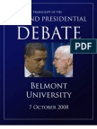 Second Presidential Debate Transcript