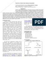 Classification Tests for Organic Halides