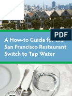 A How-to Guide for the San Francisco Restaurant Switch to Tap Water