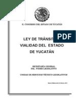 Ley Transito Vialidad Estado Yucatan 2011