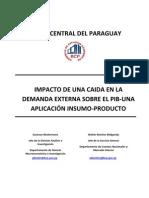 Impacto de una Caída en la Demanda Externa sobre el PIB - Una Aplicación Insumo - Producto - BCP - PortalGuarani