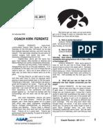 Coach Ferentz - 09 13 11