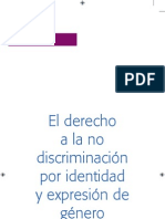 Derecho No Discriminacion Identidad Sexogenerica
