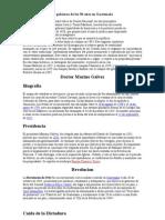 El gobierno de los 30 años en Guatemala