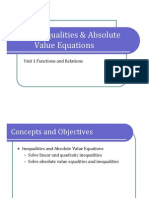 Obj. 4 Inequalities and Absolute Value Equations (Presentation)