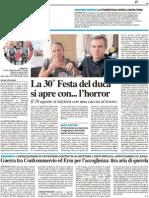 La Festa del Duca si apre con... l'Horror - Il Resto del Carlino del 5 agosto 2011
