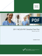 2011 NCLEX PN Detailed Test Plan - Candidate