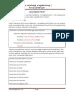 Pertemuan 11(Advanced ResultSet Menambah Data)