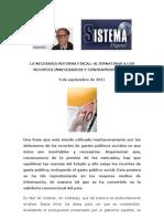 La Necesaria Reforma Fiscal1