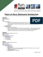 Point of Sale Ordinance Info_ 2011