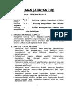 Contoh Uraian Jabatan Pengentri Data