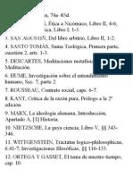 Autores y Textos Selectividad 2012