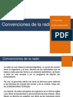 Convenciones Tecnicas en La Radio