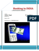 Mobile Banking in India....Rohan Tyagi...Section-A....Enrolment No- 10BSPHH010650