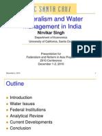 Singh Water Federalism Dec2010