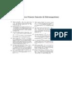 Lista de Exercício Primeiro Semestre de Eletromagnetismo