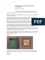 Diferentes Tipos de Socket y Slot Para Conectar El Procesador a La Placa Base