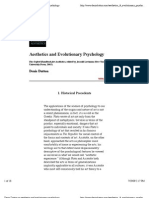Aesthetics and Evolutionary Psychology