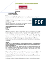 Accenture Written Test Paper