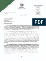 January 10, 2007 - Senator Flanagan Letter to Governor Spitzer